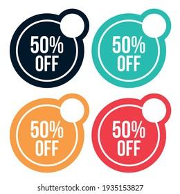 50% OFF OfferDiscount colorful tag designs