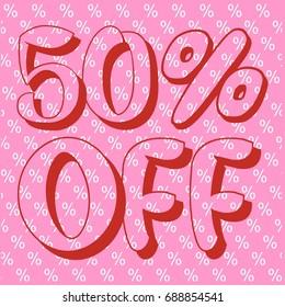 50% off sale vector banner