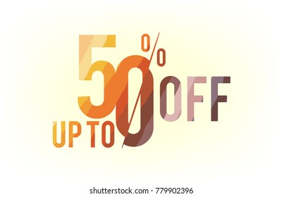 up to 50% off. Vector EPS