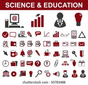 50 Science Symbols (Vector)