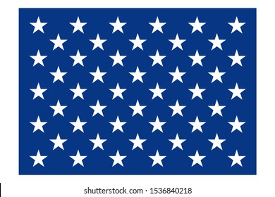 50 stars USA flag. vector. 50 stars on the flag represent the 50 states of the United States of America