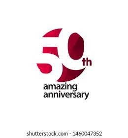 50 Th Amazing Anniversary Celebration Vector Template Design Illustration