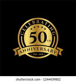 50 th Anniversary celebrations emblems vector , anniversary template design for web, game ,Creative poster, booklet, leaflet, flyer, magazine, invitation card and other us