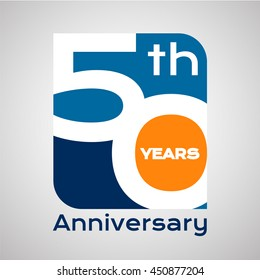 50 th years anniversary with square shape
