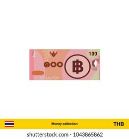 50 Thai baht banknote illustration.