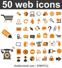 50 Web Icons Set