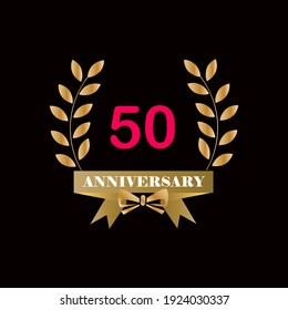 50 year anniversary celebration vector template design illustration