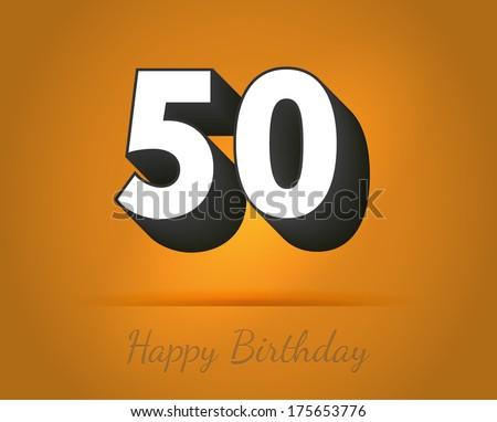 50 Years Anniversary Birthday Card