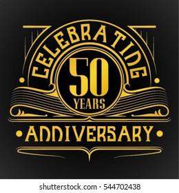 50 Years Anniversary Celebration Design.