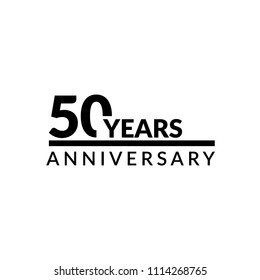 50 years anniversary celebration simple logo
