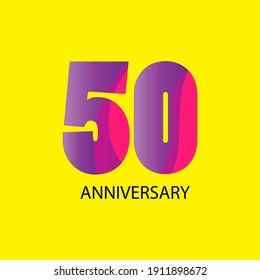 50 years anniversary celebration vector template design illustration