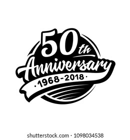 50 years anniversary design template. Vector and illustration. 50th logo.