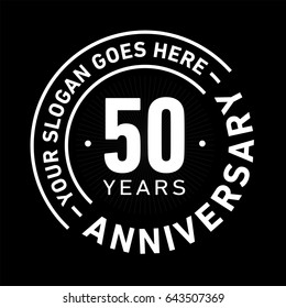 50 years anniversary logo template. Vector and illustration.