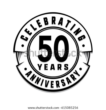50 Years Anniversary Logo Template Vector Stock Vector Royalty Free