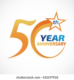 50 years anniversary Template logo