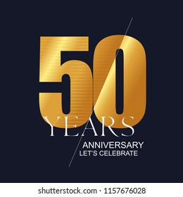 50 years anniversary vector icon, symbol, logo. Graphic design element for 50th anniversary birthday greeting card
