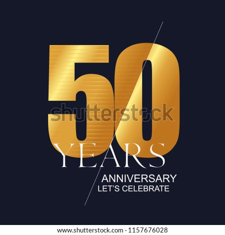 50 Years Anniversary Vector Icon Symbol Logo Graphic Design Element For 50th