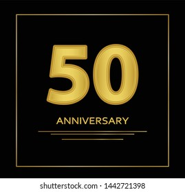 50 years anniversary vector, style  for celebration, logo template
