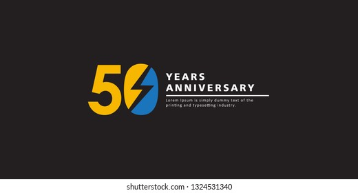 50 Years Anniversary Vector Template Design Illustration.