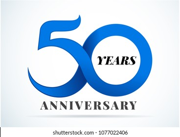 50 Years Anniversary,anniversary emblems 50 in anniversary concept template design