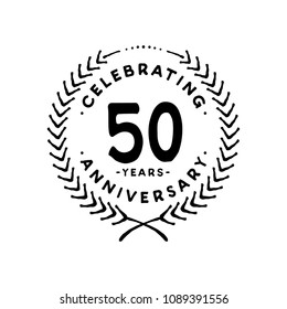 50 years design template. 50th vector and illustration.