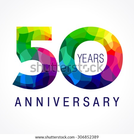 50 years old celebrating colored logo stock vector royalty free 50 years old celebrating colored logo anniversary 50 th vector template numbers happy birthday m4hsunfo