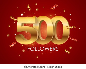 500 Followers Background Template Vector Illustration EPS10