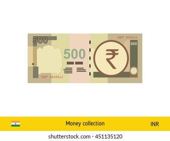 500 rupee banknote illustration.