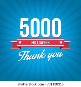 5000 followers vector illustration