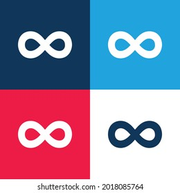 500px Logo blue and red four color minimal icon set