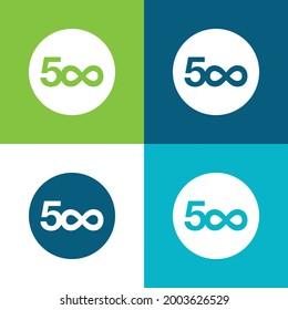 500px Logo Flat four color minimal icon set