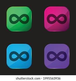 500px Logo four color glass button icon