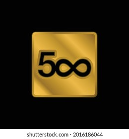 500px Logo gold plated metalic icon or logo vector