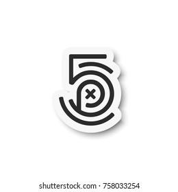 500px logo. Icon flat design