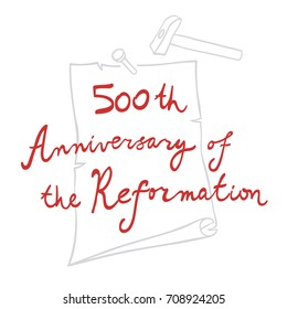 500th Anniversary of the Protestant Reformation. Martin Luther. Vector Illustration