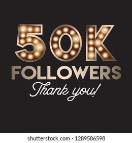 50K followers social media post template