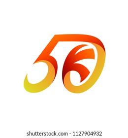 50k Logo, Anniversary Logo, Number 50 Logo