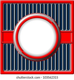 50s styled retro frame with chrome grille