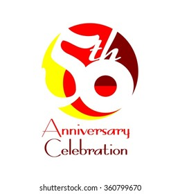 50th Anniversary Celebration - Birthday - Reunion Logo Vector Design