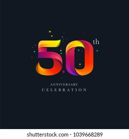 50th Anniversary Logo Design, Number 50 Icon Vector Template.