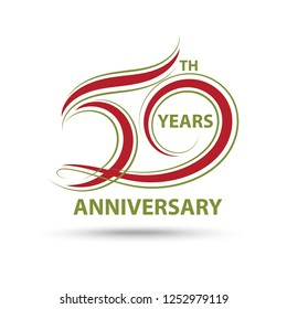 50th anniversary sign and logo for celebration symbol