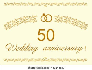 50th Wedding anniversary Invitation.