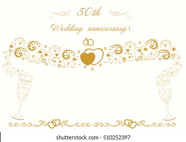 50th Wedding Anniversary Images Stock Photos Vectors Shutterstock