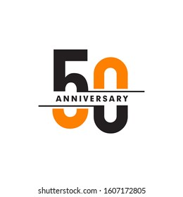 50th year celebrating anniversary emblem logo design