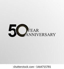50th Years Anniversary modern Logo Icon Template, Anniversary lettering with gold color. Vector EPS 10. Birthday celebration number.