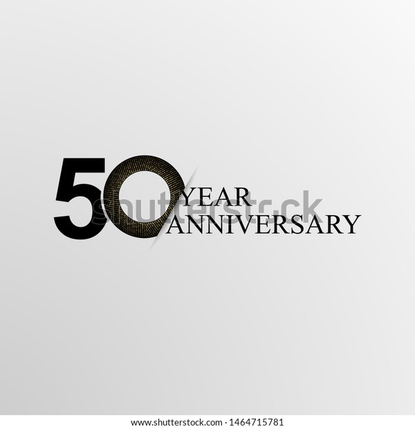 50th Years Anniversary Modern Logo Icon Stock Vector