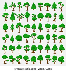 54 Cartoon vector trees