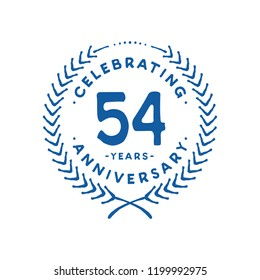 54 years design template. 54th vector and illustration.