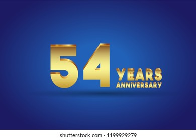 54th Anniversary numbers. background for anniversary