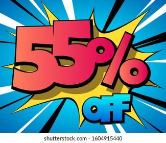 55 percent off vintage comics banner